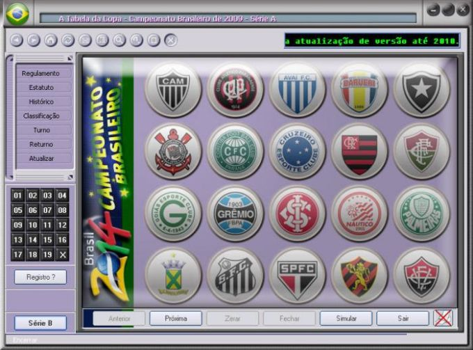 A Tabela do Campeonato Brasileiro 2009
