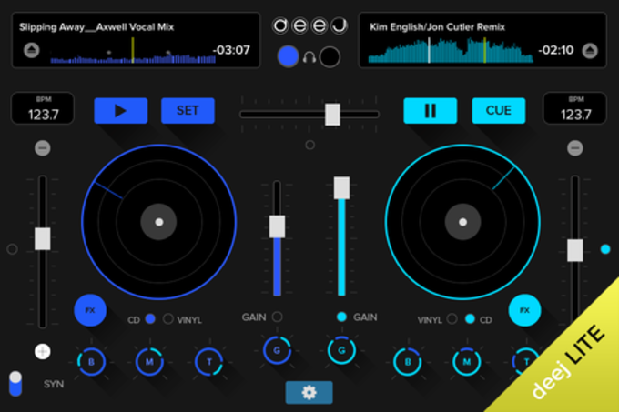 deej Lite - DJ turntable. Mix record  share your music