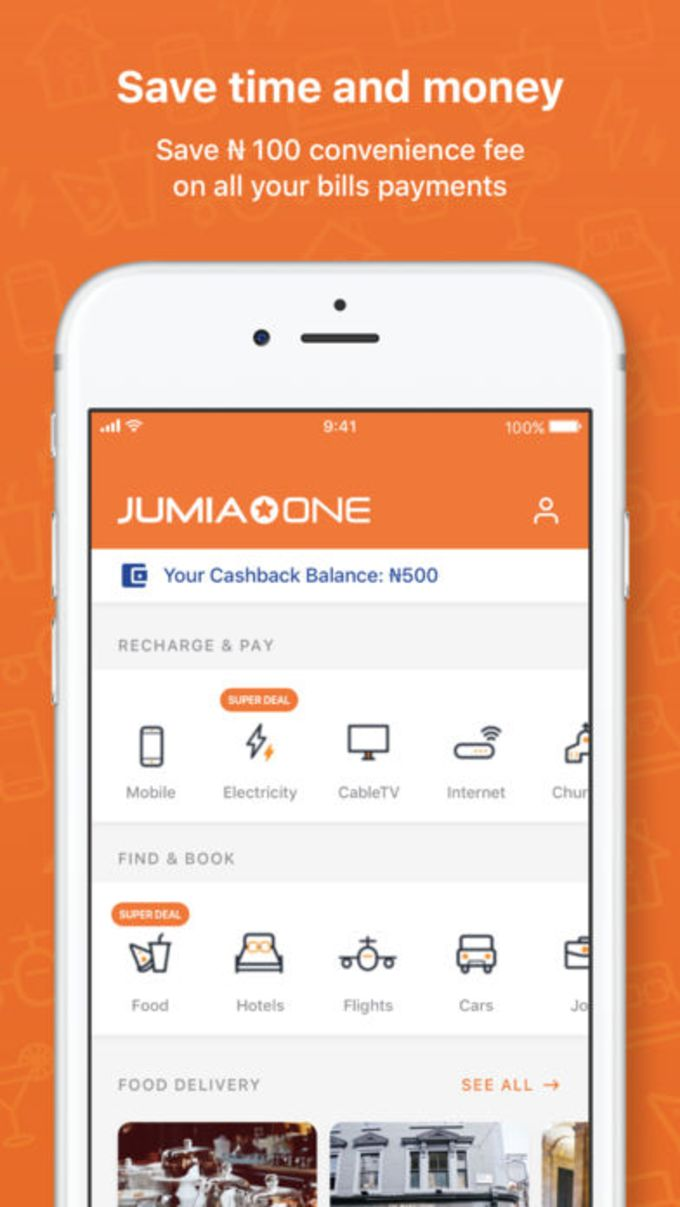Jumia One: Pay Airtime  Bills