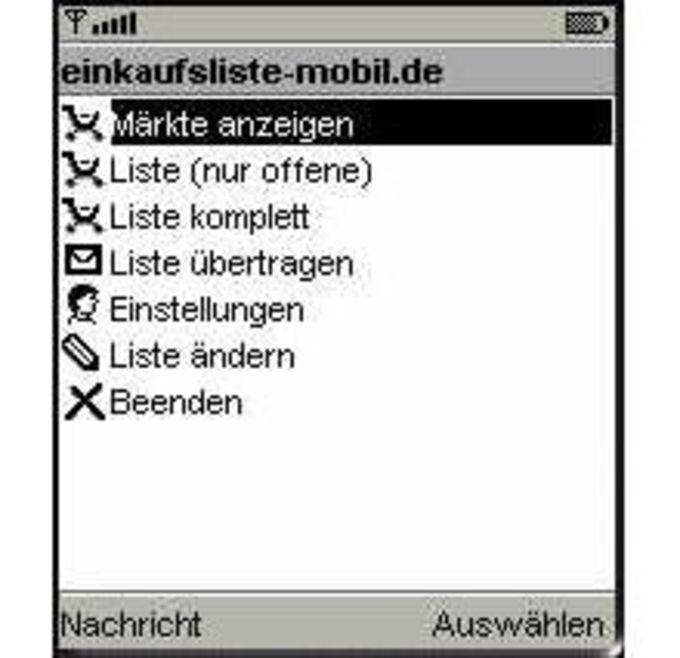 Einkaufsliste-Mobil