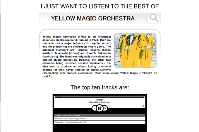 I JUST WANT TO LISTEN TO THE BEST OF