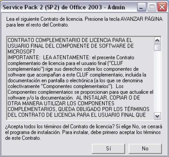 Service Pack 2 para Microsoft Office 2003