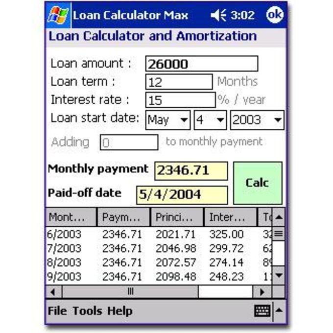 Loan Calculator Max