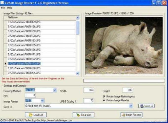 iRedSoft Image Resizer