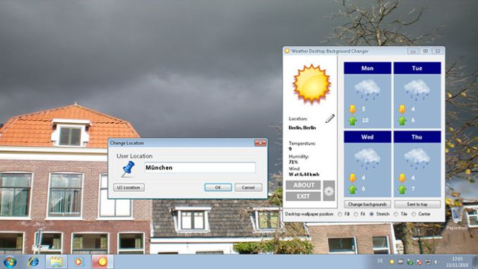 Weather Desktop Background Changer
