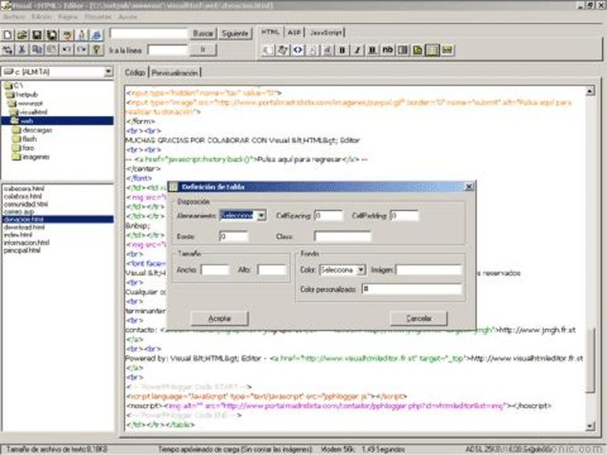 Visual HTML Editor