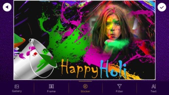 Holi Photo Frames - Sticker