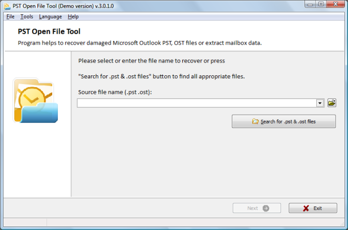PST Open File Tool