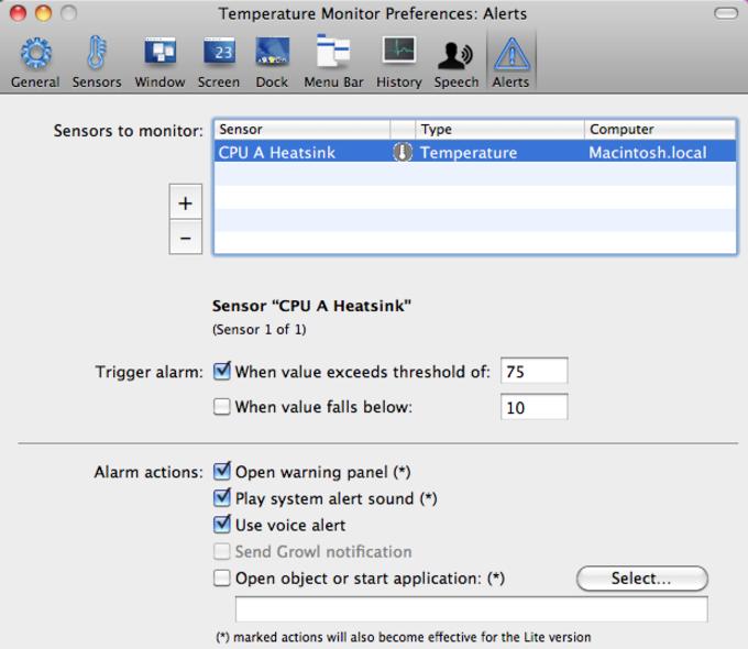 Temperature Monitor na Mac - Download