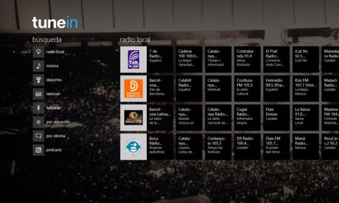 TuneIn Radio para Windows 10