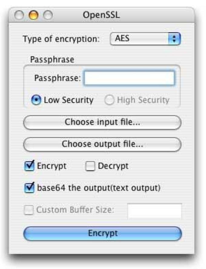 OpenSSL File Utilities