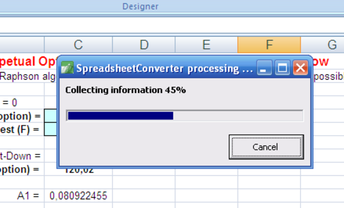 SpreadsheetConverter to HTML/JavaScript