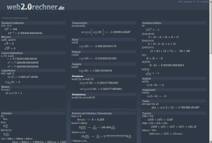 Web2.0 Taschenrechner