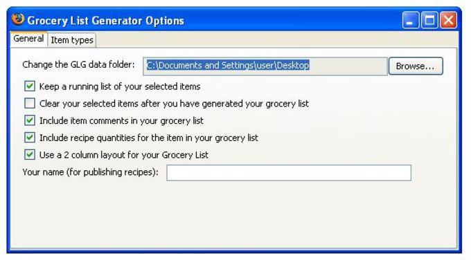 Grocery List Generator
