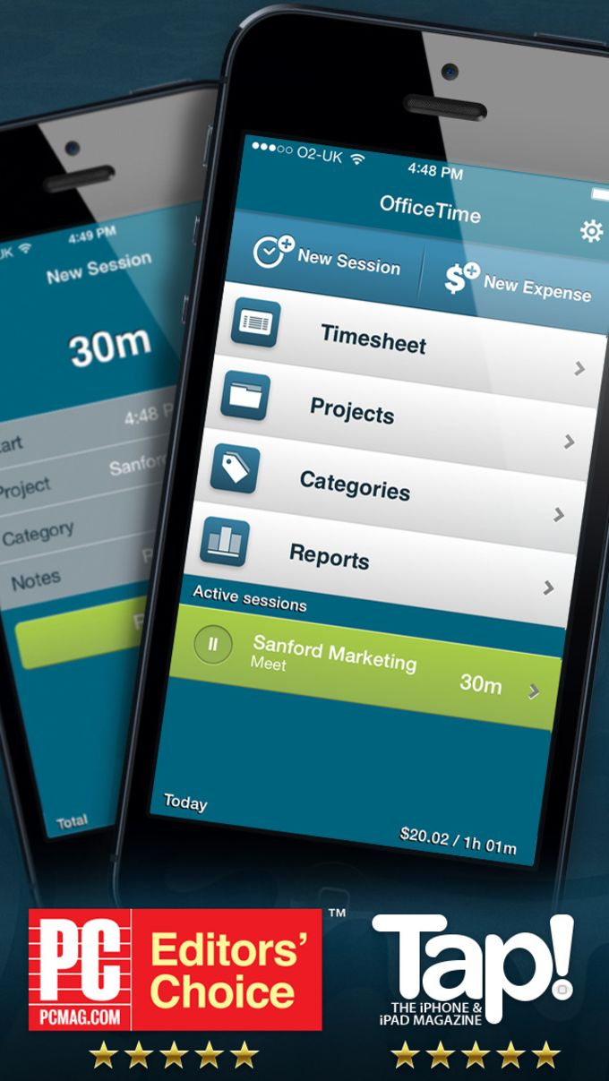 OfficeTime - Time Tracking & Expense Keeping