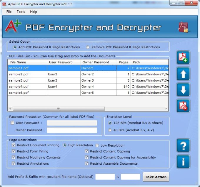 Aplus PDF Encrypt and Decrypt