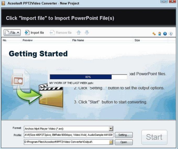 Acoolsoft PPT2Video Converter