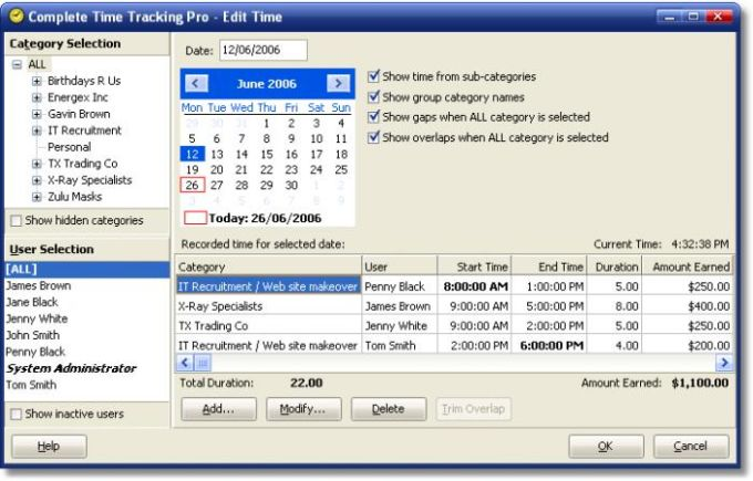 Complete Time Tracking Software
