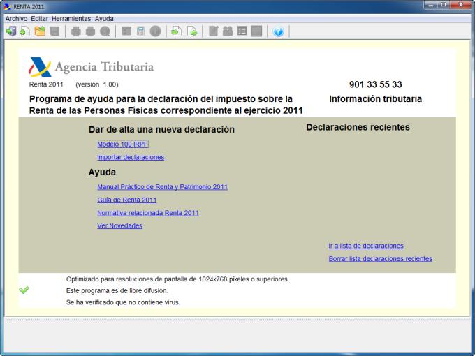 Renta 2011 (Modelo PADRE)