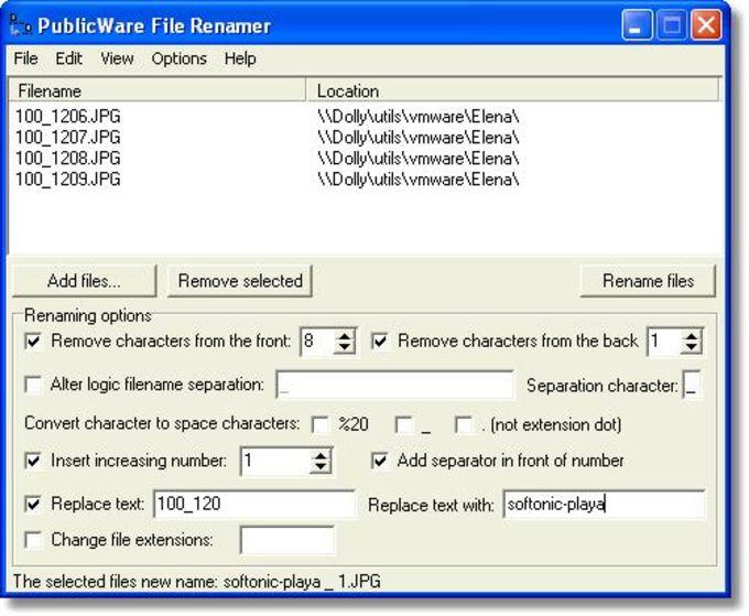 PublicWare File Renamer