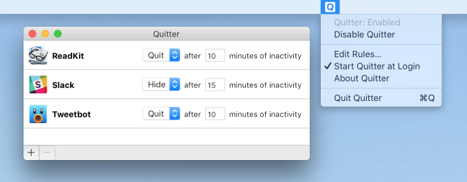 Quitter for Mac