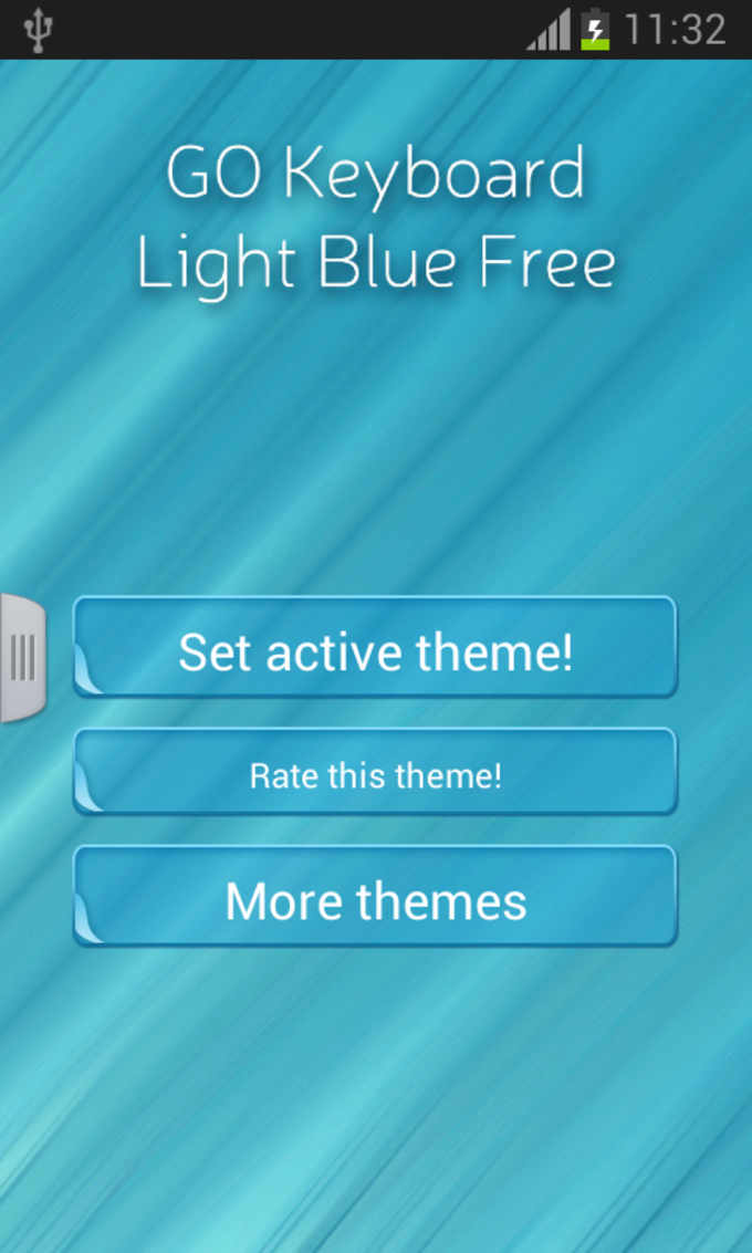 GO Keyboard Light Blue Free