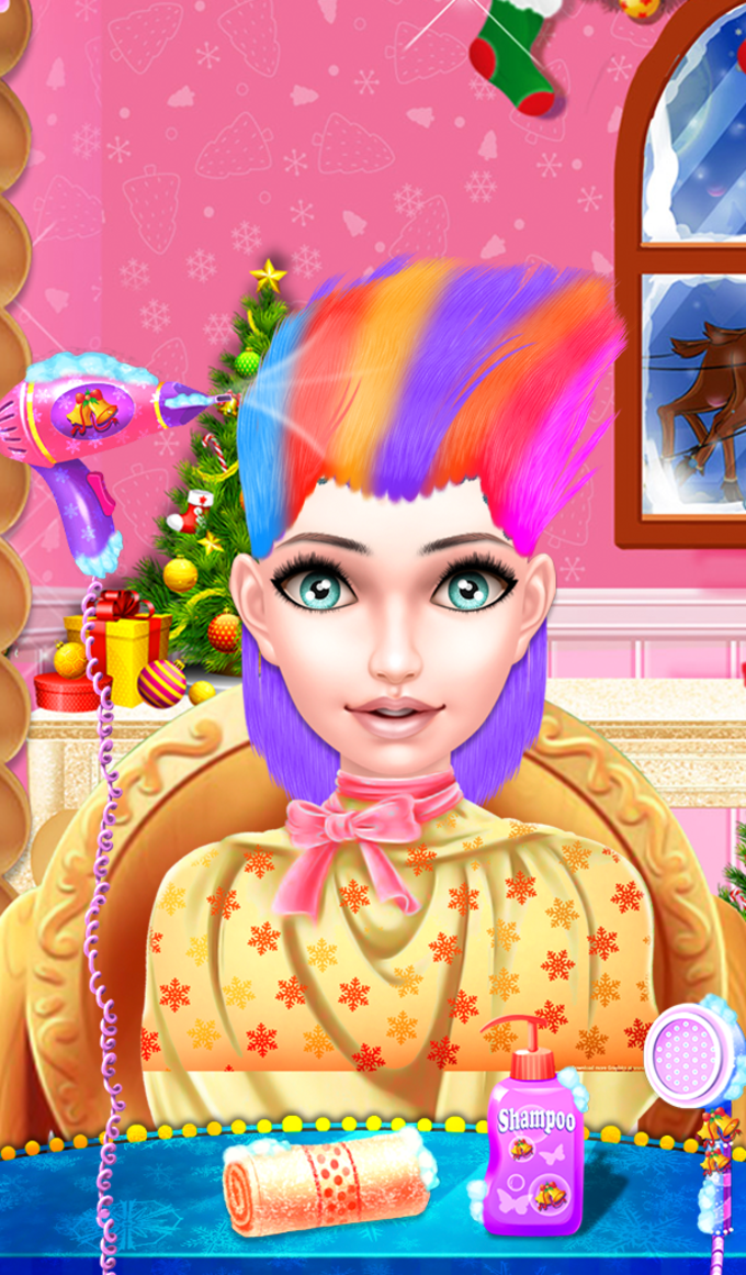 Christmas Girl Hair Salon