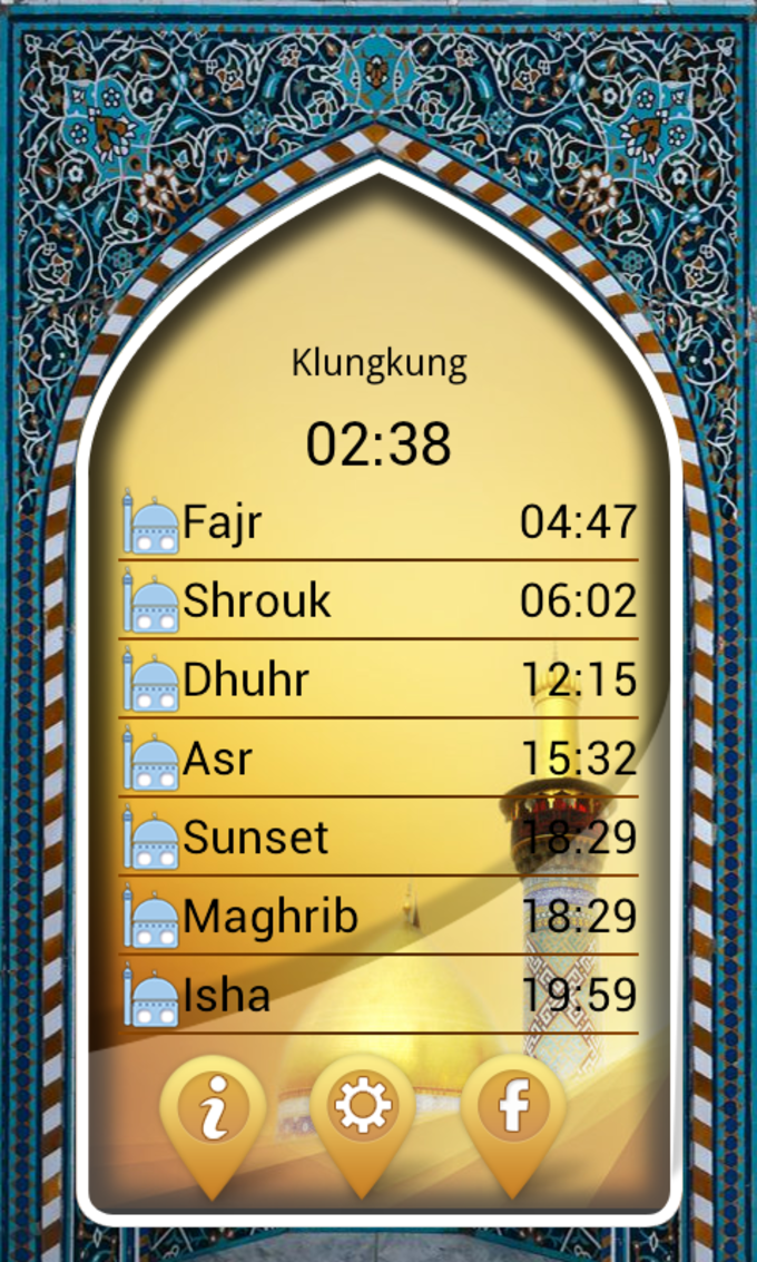 Salaat Timings Alarm