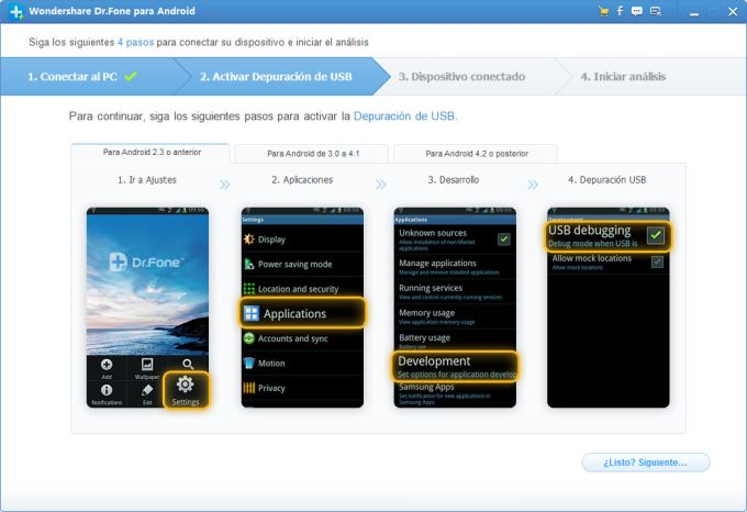 Wondershare Dr. Fone para Android