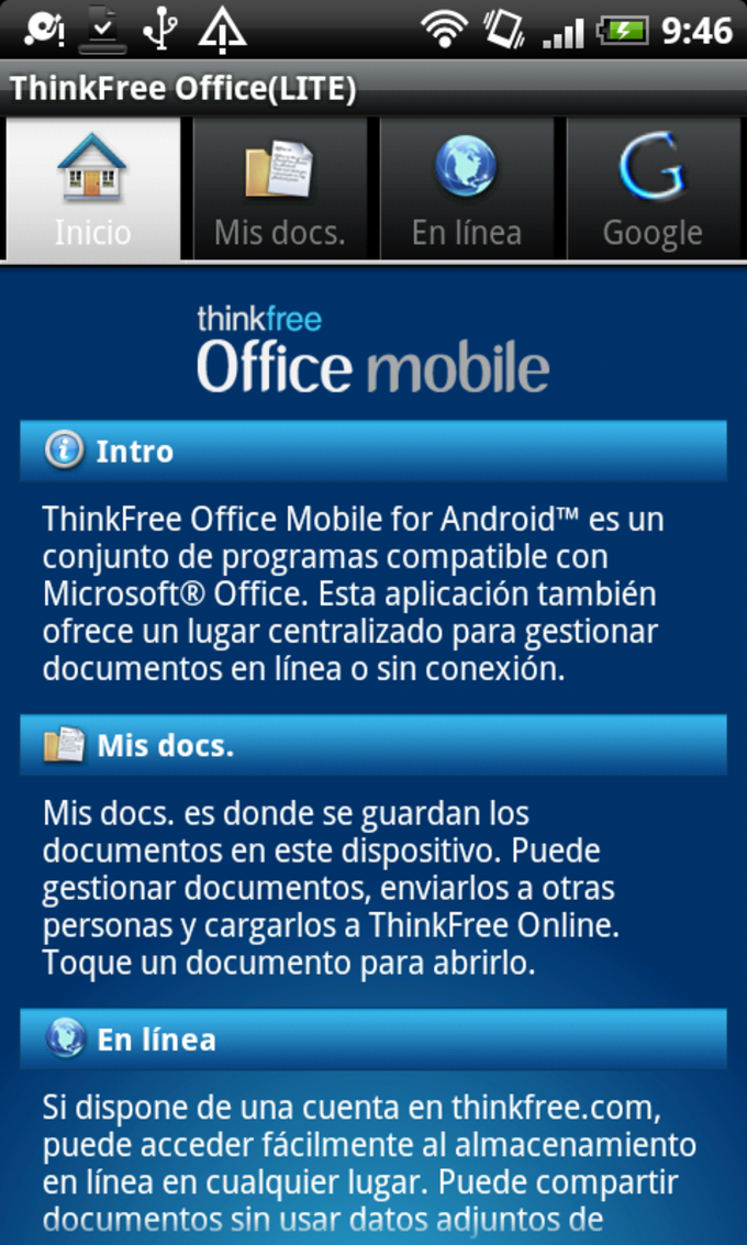 Thinkfree Office Mobile Viewer Para Android Descargar