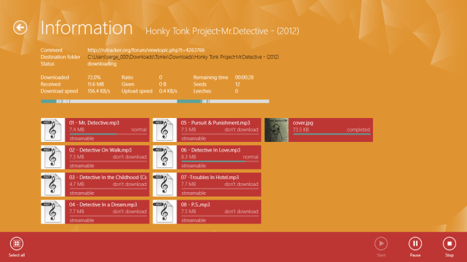 Torrex Lite Torrent Downloader for Windows 10