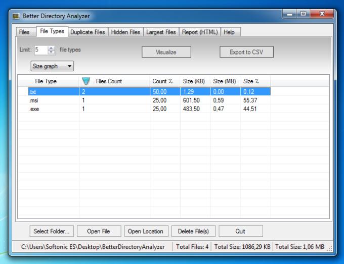 Better Directory Analyzer