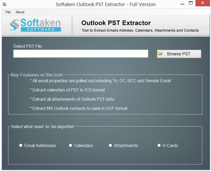 Outlook PST Extractor