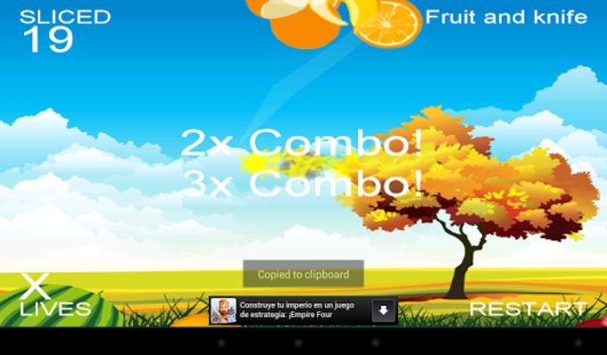 Frutas y cuchillo: se mire