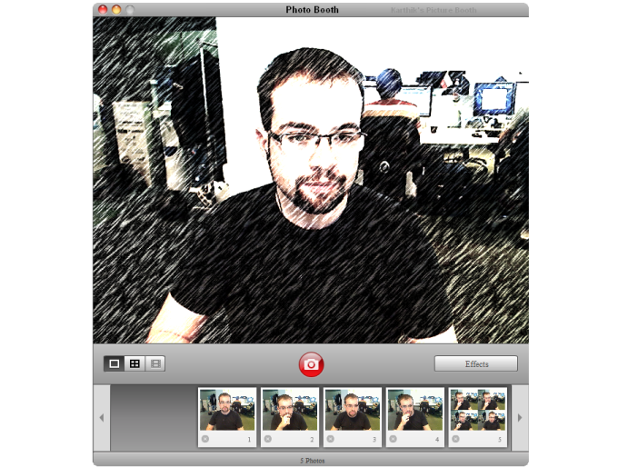 Photo Booth für Windows 7