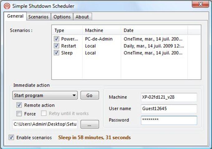 Simple Shutdown Scheduler