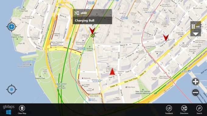 gMaps pour Windows 10