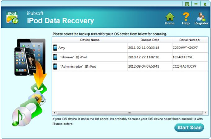 iPubsoft iPod Data Recovery