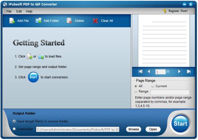 iPubsoft PDF to GIF Converter