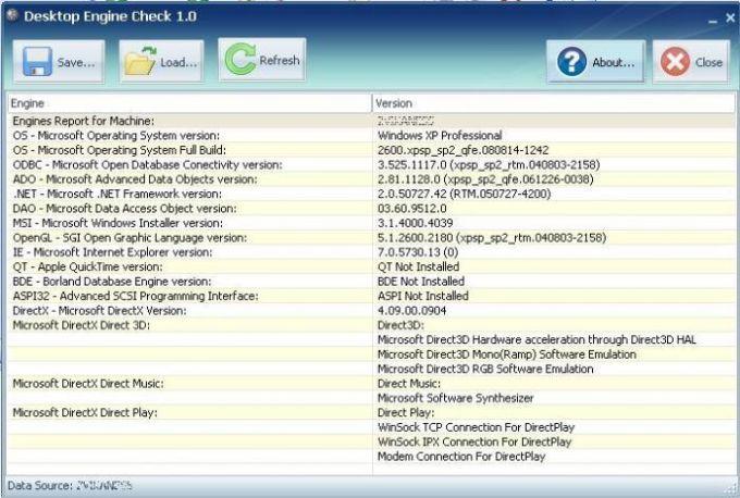 Desktop Engines Check