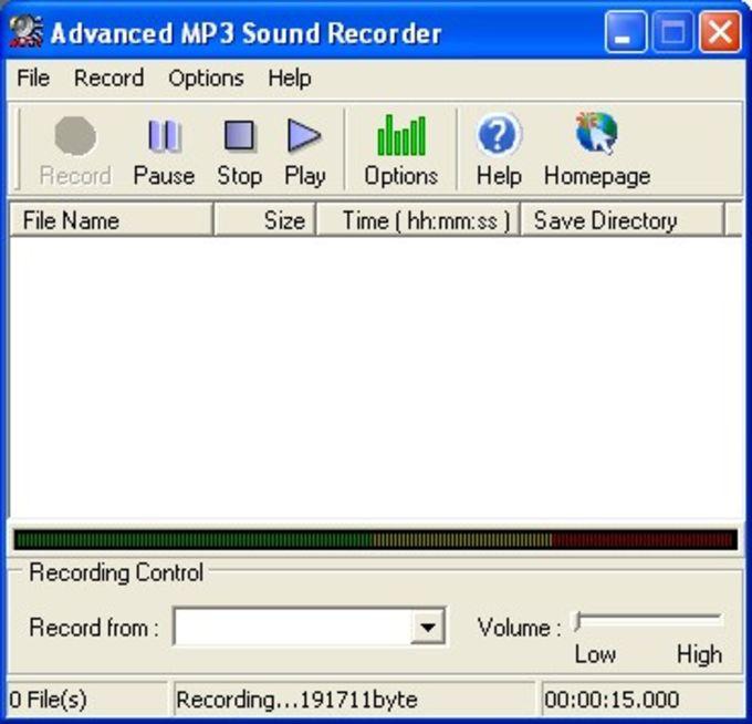 Advanced MP3 Sound Recorder