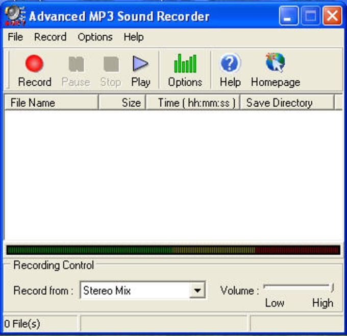 Advanced MP3 Sound Recorder