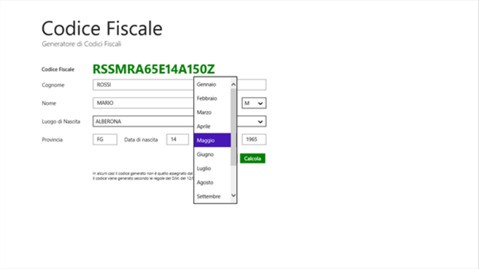 Codice Fiscale App