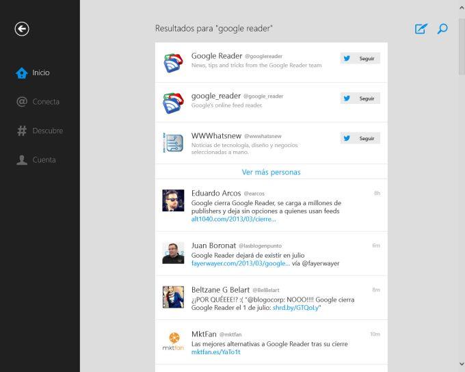 Twitter voor Windows 10