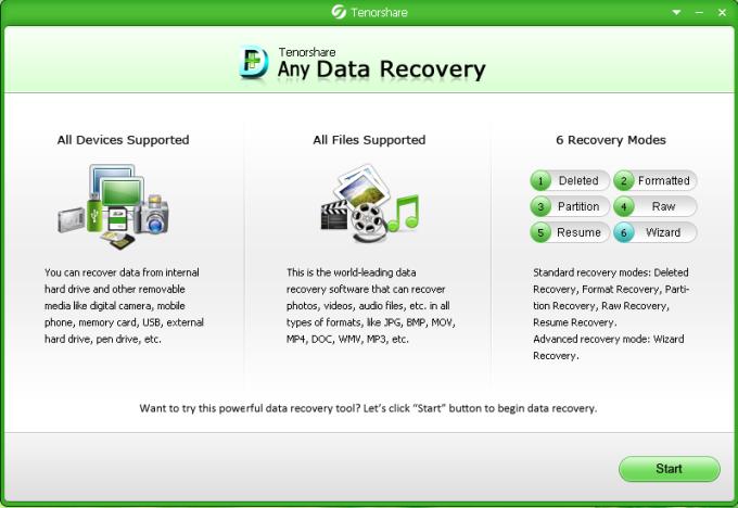 Tenorshare Free Any Data Recovery