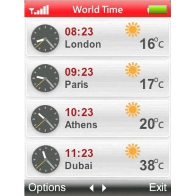 World Time and Temperature
