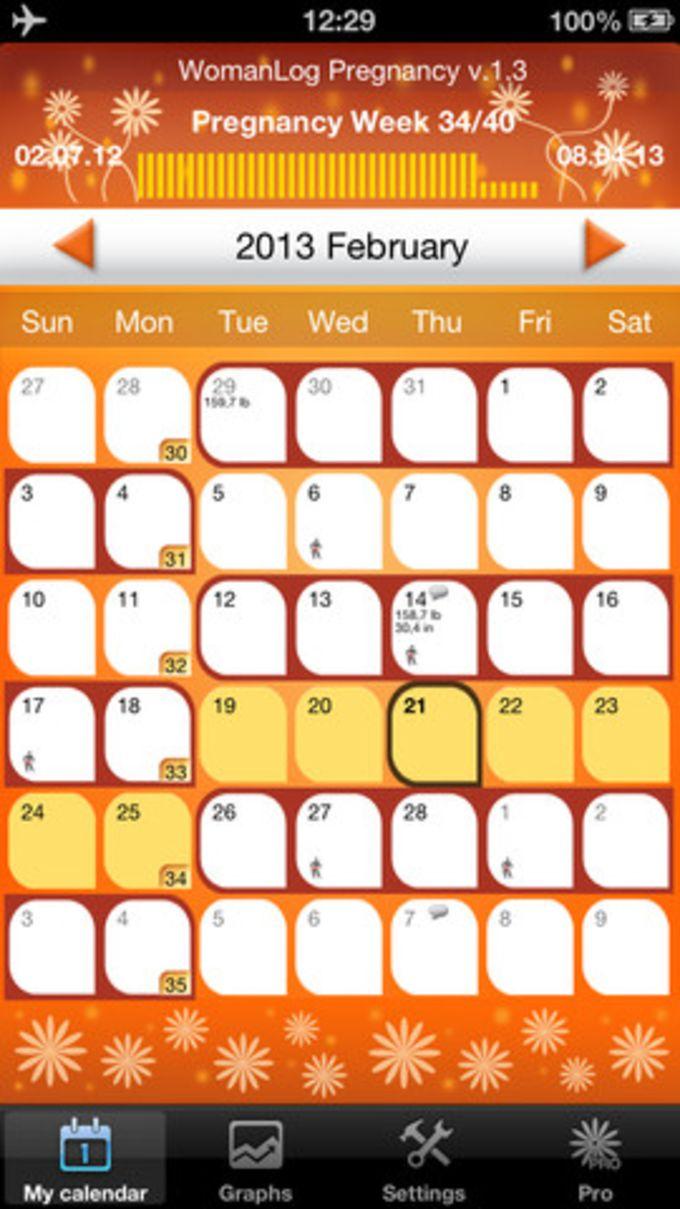 WomanLog Pregnancy Calendar