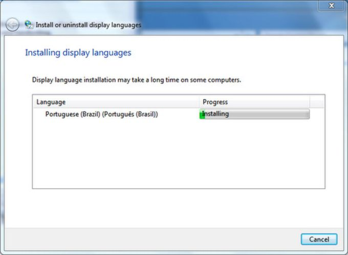 Windows Seven Language Pack