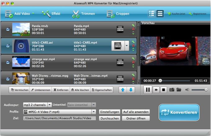Aiseesoft MP4 Converter für Mac