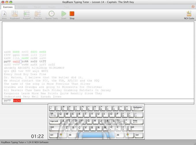 KeyBlaze Free Mac Typing Tutor